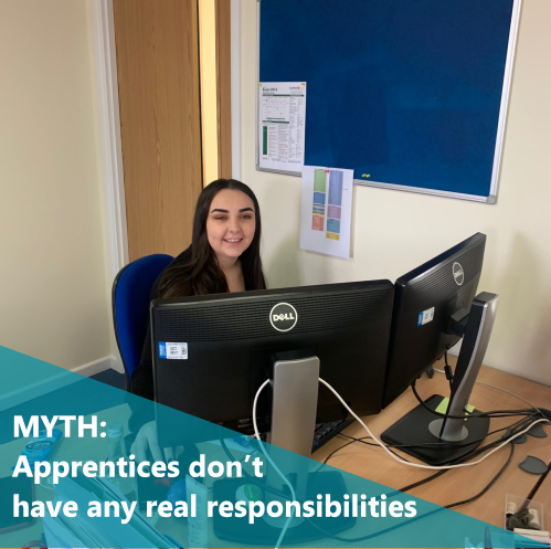 MYTH: Apprentices don't have any real responsibilities
